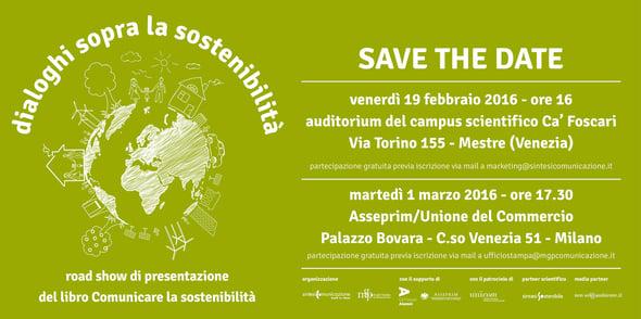 Comunicare la sostenibilità: due date per il roadshow di presentazione del libro