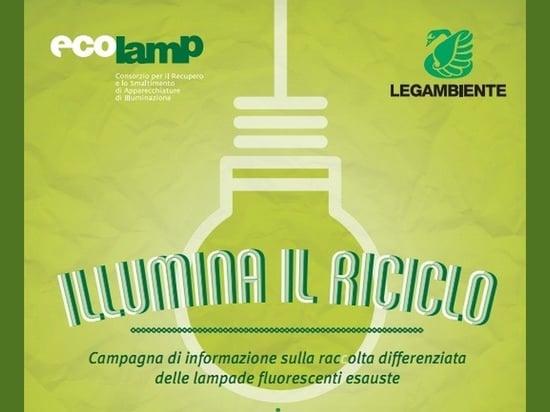 """Torna """"Illumina il riciclo"""", la campagna di riciclo... """"illuminato"""""""