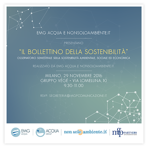 La sostenibilità vista dagli italiani: a Milano il lancio del Bollettino della sostenibilità