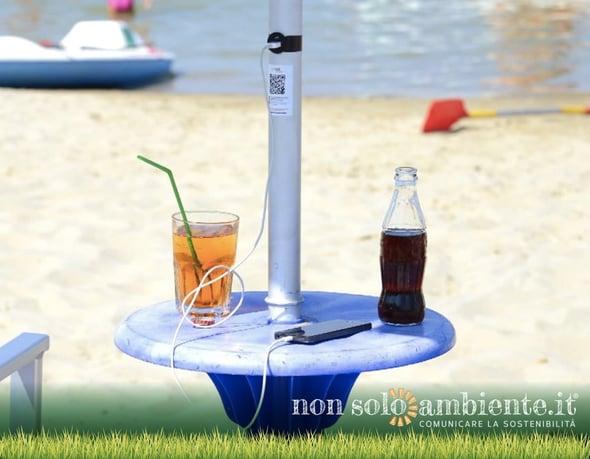 Smart beach: il solare alimenta ombrelloni e cellulari