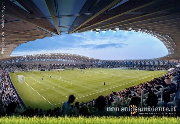 Uno stadio in legno: ecco il progetto dei Forest Green Rovers