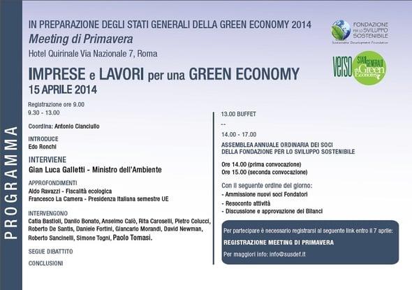 Meeting di Primavera 2014: un pacchetto UE per lo sviluppo sostenibile