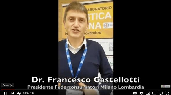Dr. Francesco Castellotti, Presidente Federconsumatori Milano Lombardia