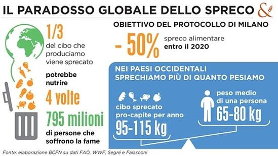 La Giornata Mondiale dell'Ambiente contro lo spreco alimentare