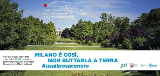 Milano è così: una campagna per dire addio ai mozziconi di sigaretta per terra