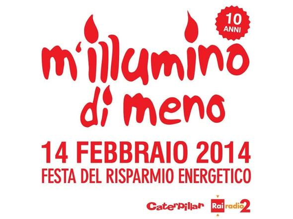 """Il 14 febbraio alle 18.00 spegnamo le luci per """"illuminarci di meno"""""""