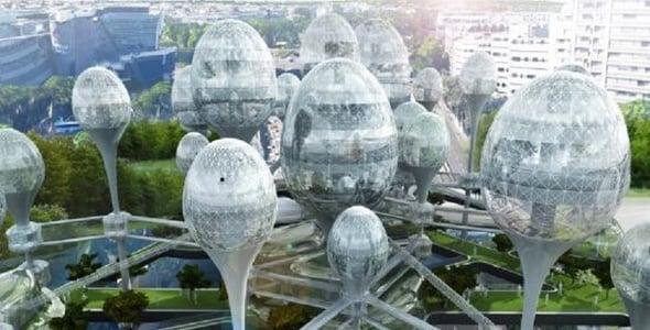 Parigi: architettura sostenibile con abitazioni a forma di uovo
