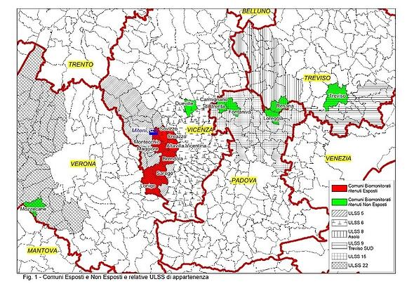 Allarme rosso in Veneto: trovate tracce di sostanze tossiche nelle analisi di 507 persone