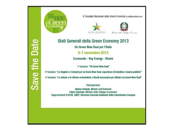 Presentati a Roma gli Stati Generali della Green Economy 2013