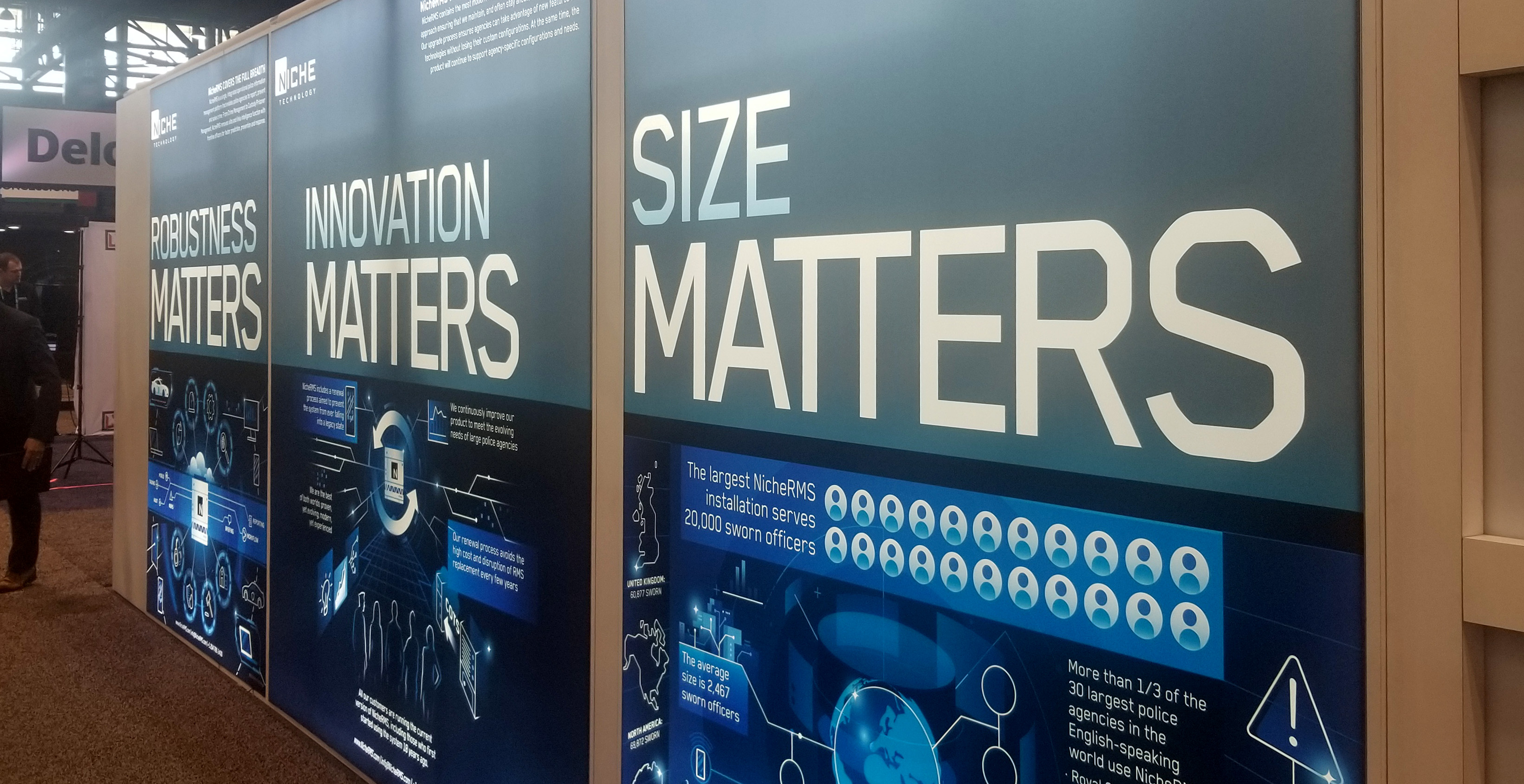 'Size matters': designing large-scale graphics and animations