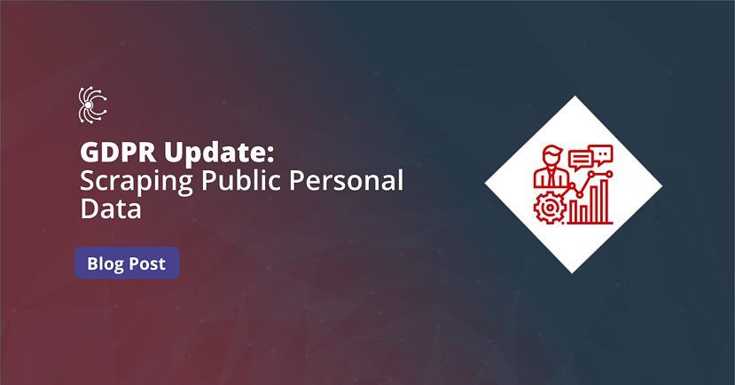 Blog featured image - GDPR Update Scraping Public Personal Data
