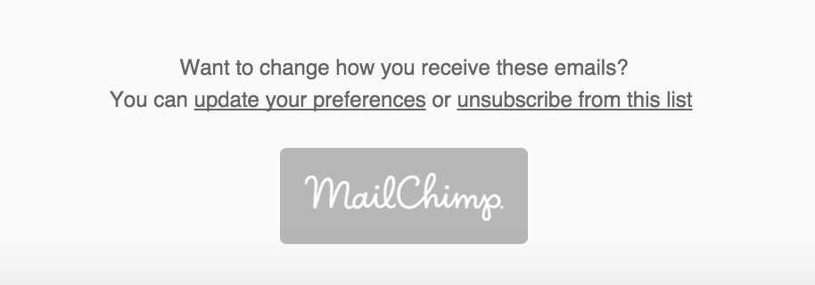 MailChimp's unsubscribe is invaluable!