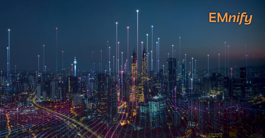 A smart city - connected via numerous IoT service providers