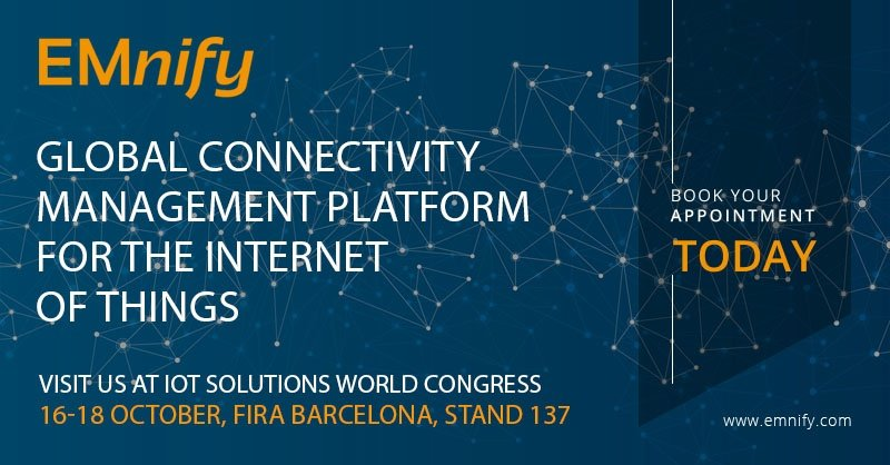 EMnify at IoT Solutions World Congress 2018