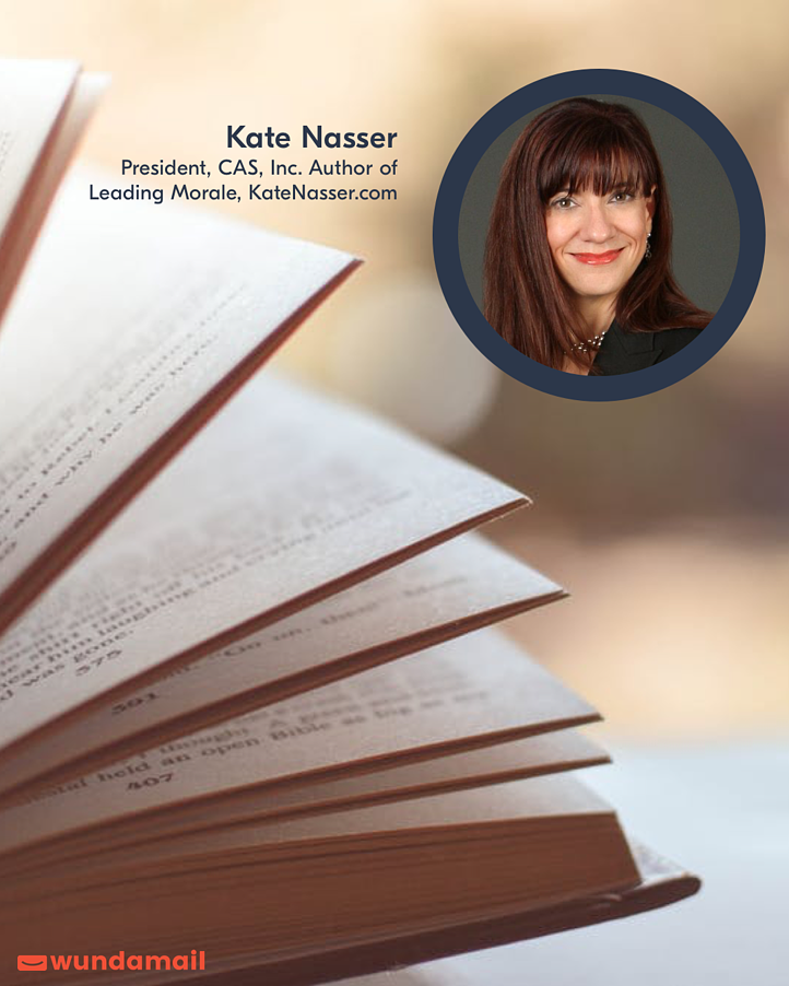 Wundamail Voices: The Future of Work, with Kate Nasser, President, CAS, Inc. Author of Leading Morale