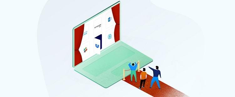 prop tech marketplace illustration