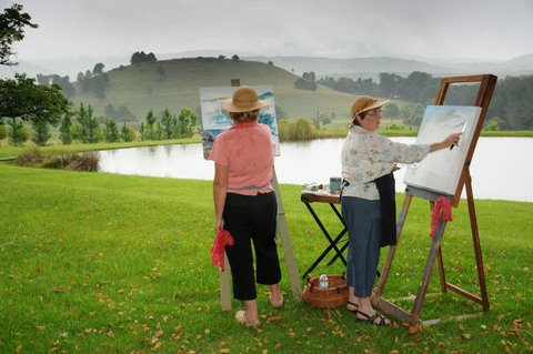 Painting at Stonecutters Lodge, Dullstroom, Lydenburg