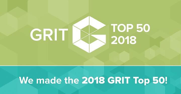 Proud to be a GRIT top 50 most innovative market research company
