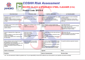 COSHH Made Easy - Part 3 The Risk Assessment