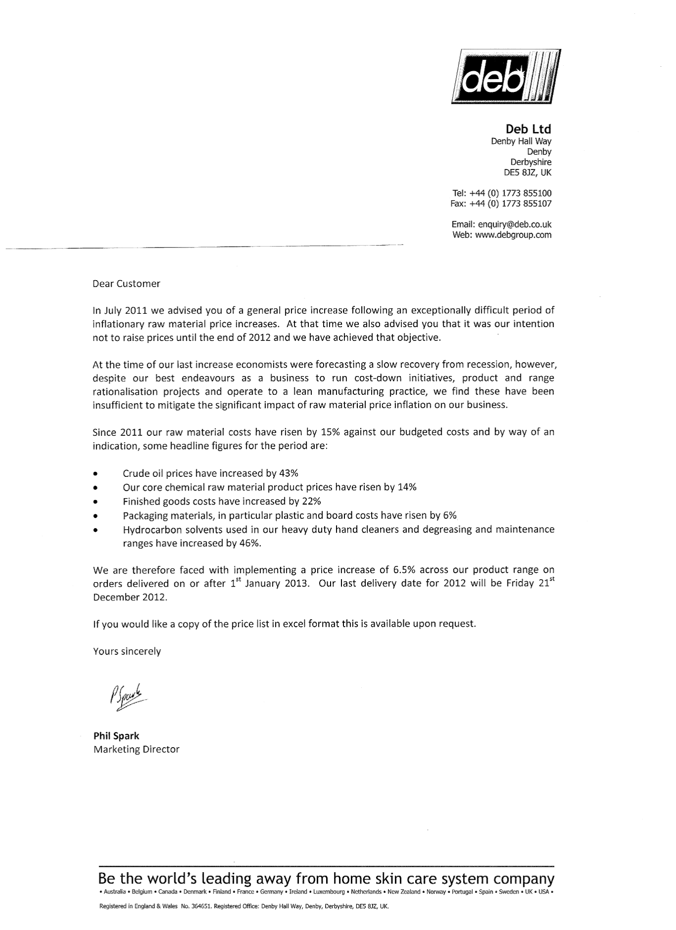 Price Increase Letter Template Commonpence Co