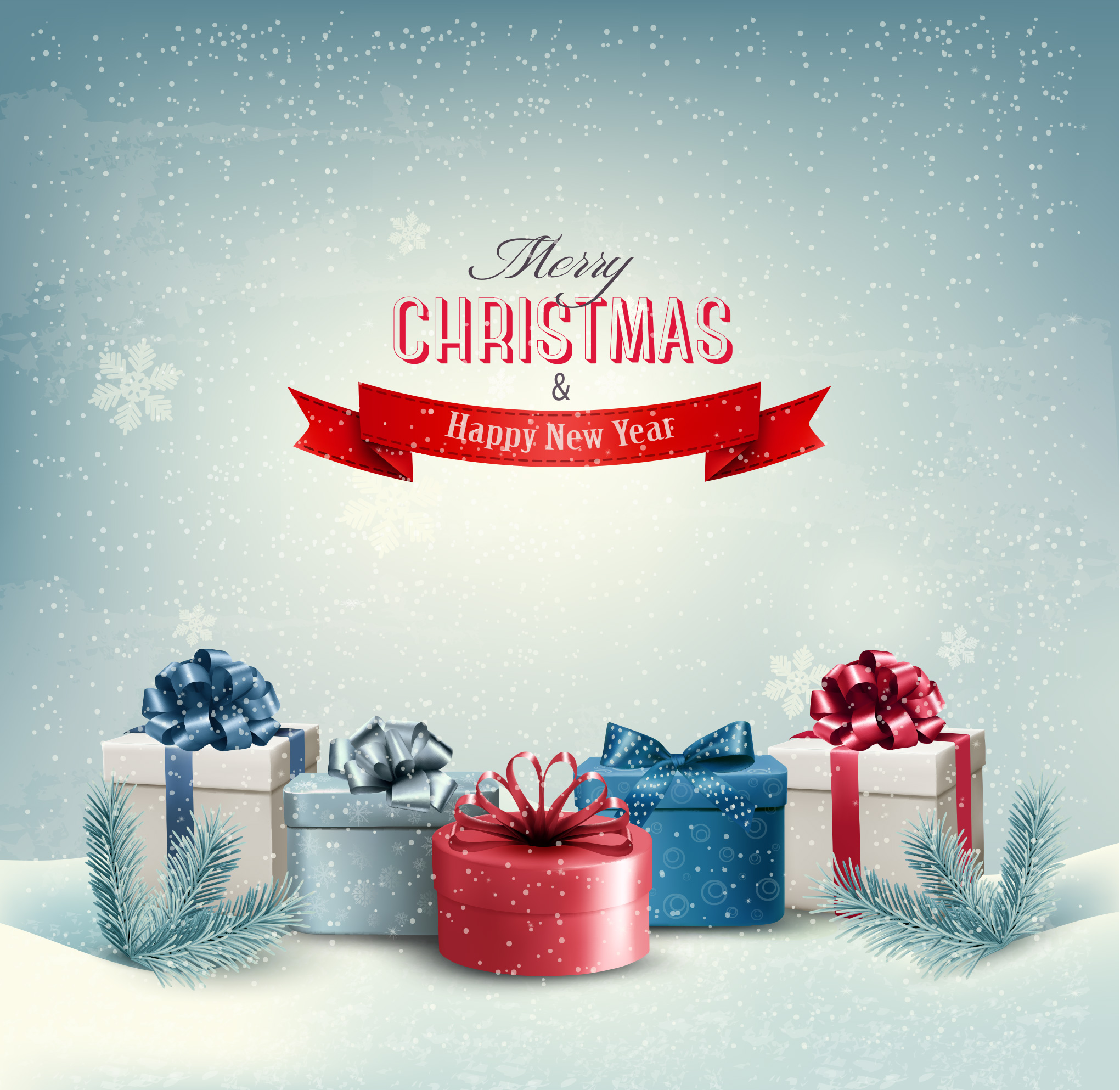 Merry Christmas, Happy Holidays And Happy New Year