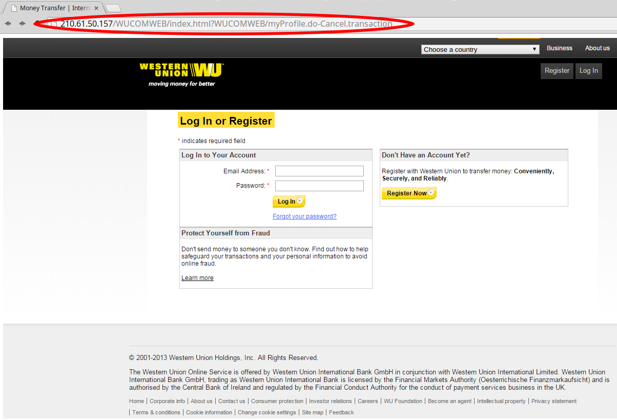 Warning: Fastbreak Email Scam Purporting To Be From Western Union