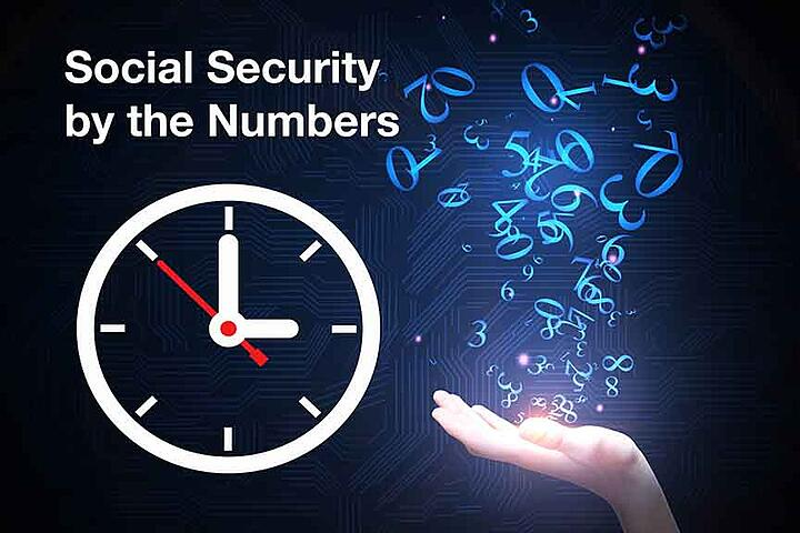 social Security by the numbers with clock