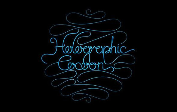 Holographic Cocoon - Hand Drawn Logo Development