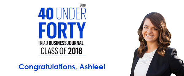 Ashlee Wagner honored as member of Triad Business Journal's 40 Under Forty