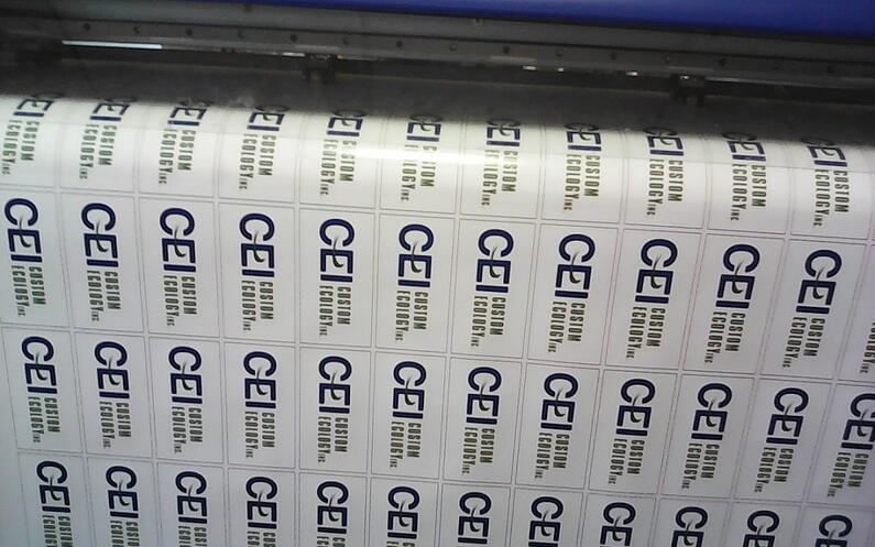 Die cut stickers\ current jobs printing