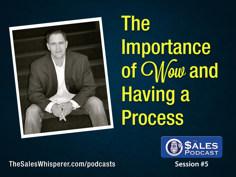 Professional selling tips include having a Wow process on The Sales Podcast
