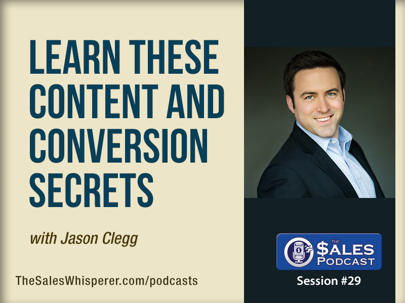 Jason Clegg The Sales Podcast 29