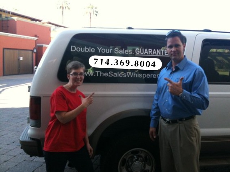 Wes Schaeffer, The Sales Whisperer® with the old school Excursion and Infusionsoft wrap.