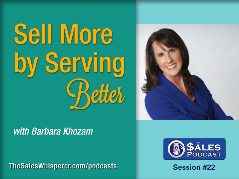 Get the best customer service tips from Barbara Khozam on The Sales Podcast.