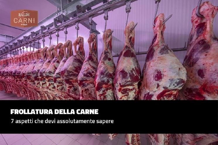 Aspetti da sapere sulla frollatura della carne