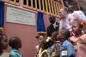 Minister Of Education Ronald Jones Left And Co Founder Chairman The Three More Nursery Schools