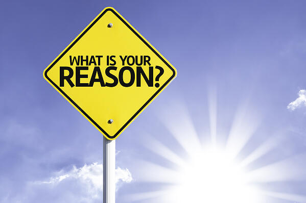 What is your Reason? road sign with sun background