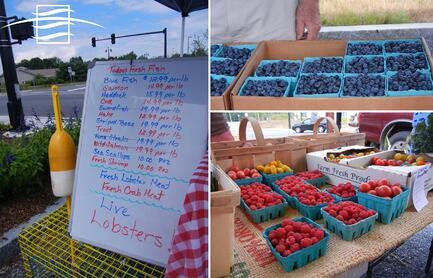 farmers market collage