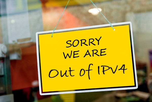 Out of IPv4
