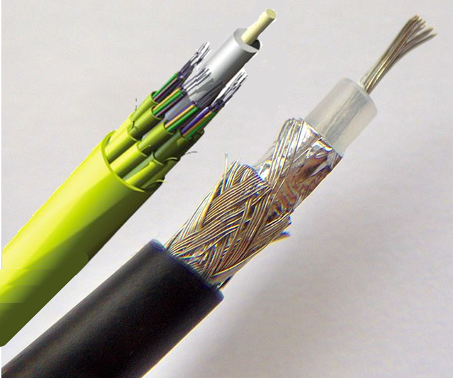Cable and Fiber Cables Cut