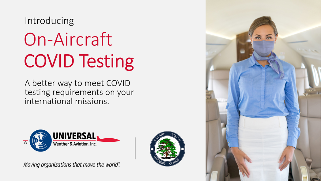 On-Aircraft COVID PCR Testing Services