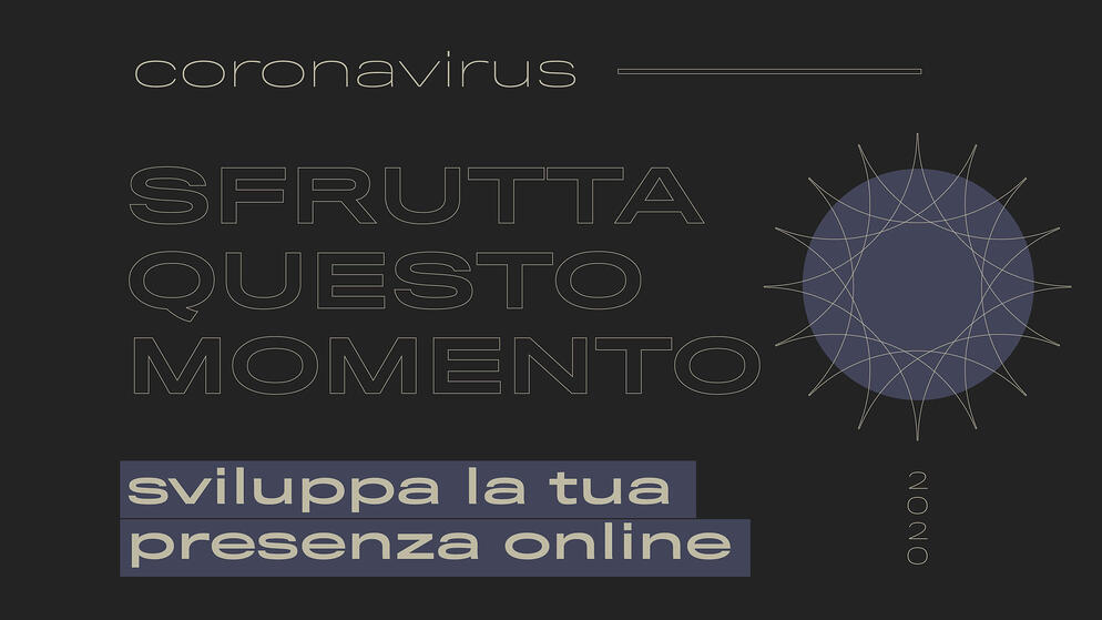 coronavirus sviluppa la tua presenza online