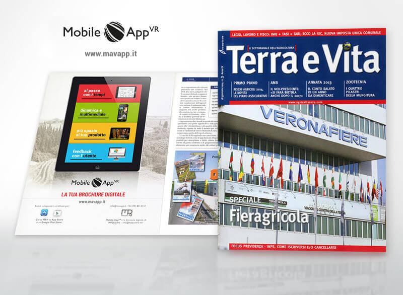 Mobile App VR su Terra e Vita Quadro