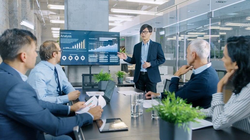 Sales presentation controls