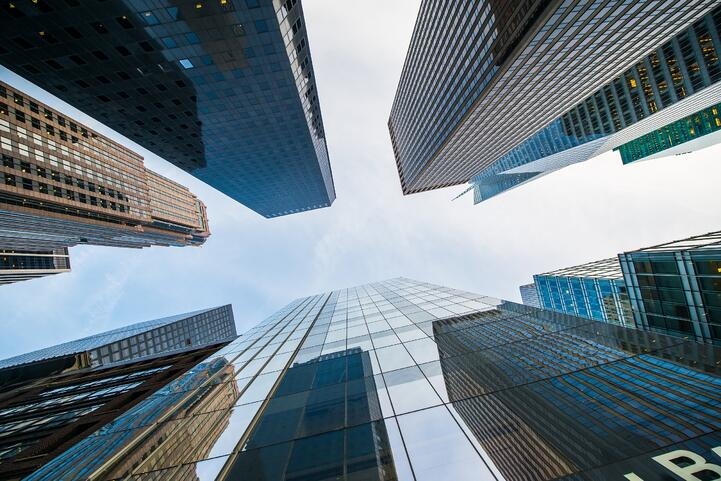 skyscrapers pictured from the bottom Elnur by Shutterstock