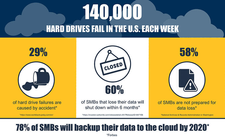 Data loss statistics infographic