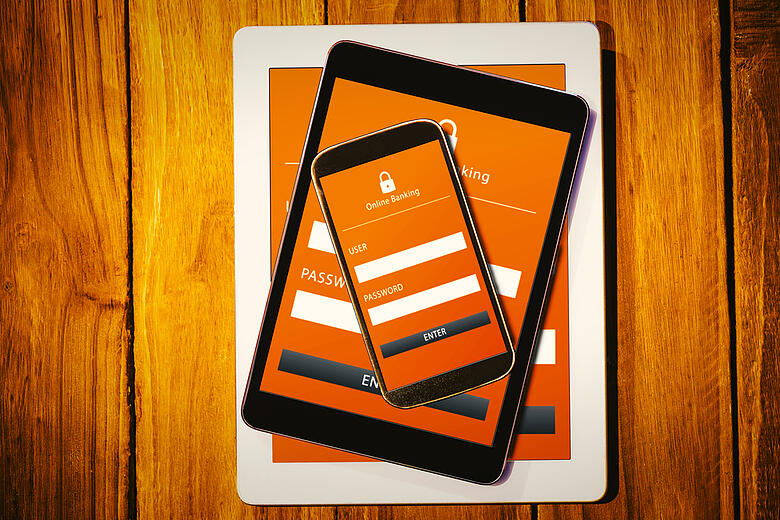 Online banking against tablets and smartphone