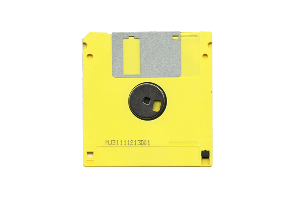 Yellow and Black Diskette