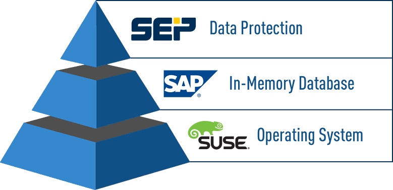 SEP Backup Software + SAP HANA Dababase + SUSE Operating System