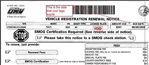 Ca Dmv Pay Registration >> When do my auto tags expire?